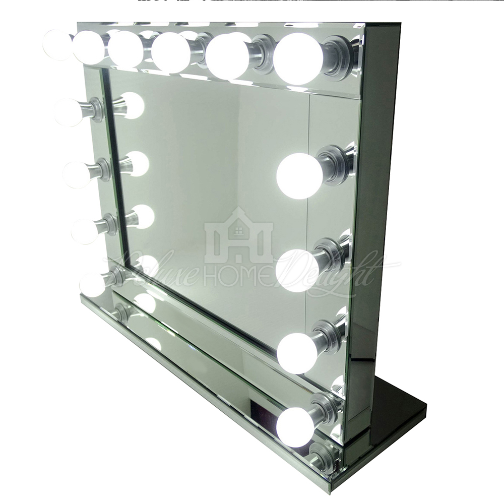 hollywood makeup mirror vanity 14 led lights professional theatre beauty home. Black Bedroom Furniture Sets. Home Design Ideas